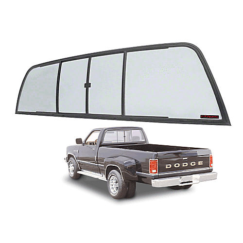 CRL TSW900LT Duo-Vent Four Panel Sliders for 1975-1/2-1993 Dodge Ram Cabs