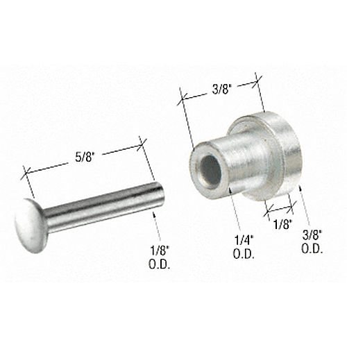 CRL G3082 Sliding Window Replacement Roller with Axle Pin for Fullview Windows