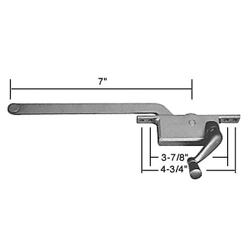 CRL 5257RHAL RH Square Series Casement Window Operator