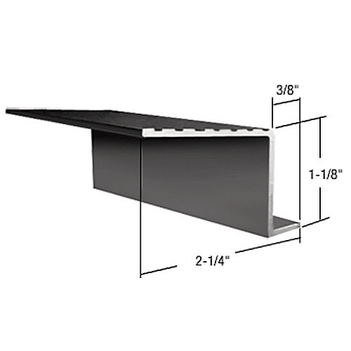 CRL 740SBL Retractable Screen Door Out Sill Adaptor, Black
