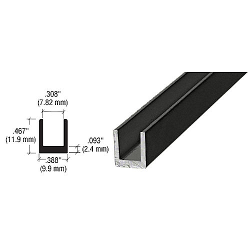CRL D631BL Single Channel, Black