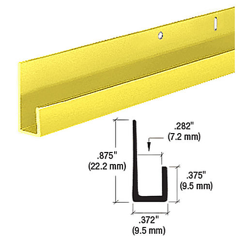 CRL D636GA Standard J Channel, Gold Anodized