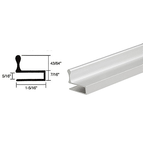 CRL D644A Glass Door Edge Pull Extrusion