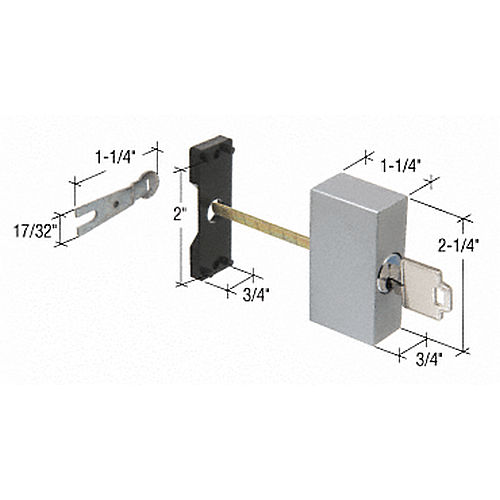 CRL E2007 Key Cylinder Housing Kit for Guaranteed Products