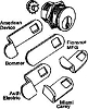 Hudson PT812-5 Mailbox Lock/5 Cams Assortment