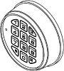 La Gard 3000 Electronic Keypad for 3600, Chrome
