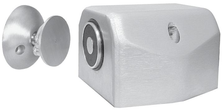 Abh 2600 Recessed Electro Magnetic Door Holder Single