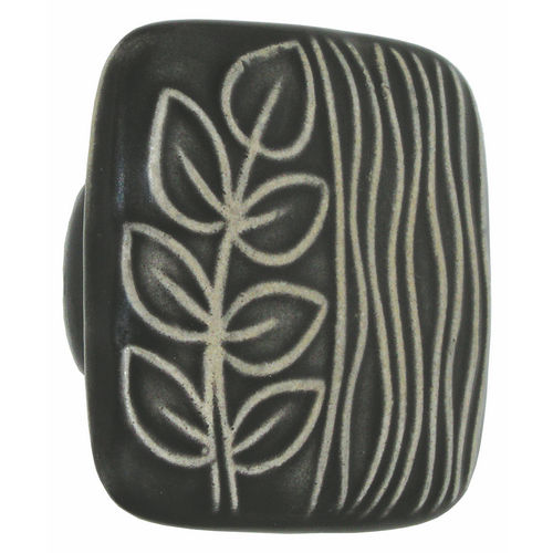 Acorn PSGYP Large Square Knob Black & White Sea Grass