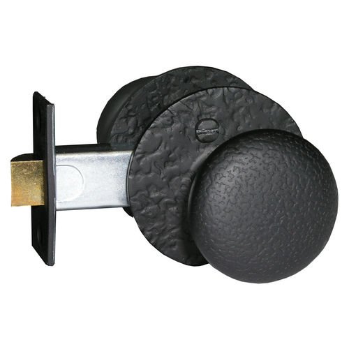 Acorn RSHBI Double Knob Set - Rough Iron, Privacy Set