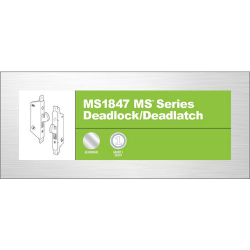 Adams Rite MS1847-11-630 Deadlock 41-0197, Satin Stainless Steel