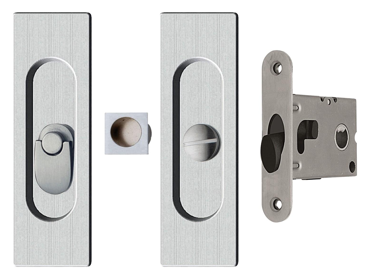 Ahi Sdk096pv 45 Privacy Pocket Door Kit Polished Chrome