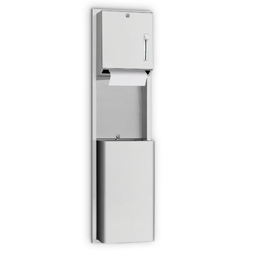 AJW U671AW-SM Lever Operated Roll Towel Dispenser & Waste Receptacle, Surface Mounted
