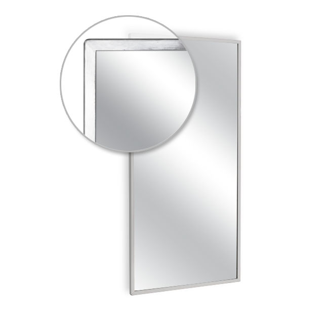 Ajw u700 3642 angle frame mirror plate glass 36 w x 42 h for Mirror 42 x 36