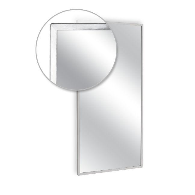 Ajw u700t 1824 angle frame mirror tempered glass 18 w x for Mirror 18 x 24