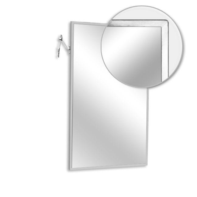 Ajw u702lg 1824 tilt angle frame mirror laminate glass 18 for Mirror 18 x 24