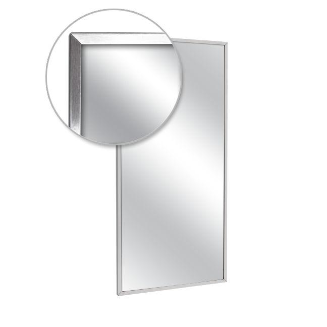 Ajw u711 3036 channel frame mirror plate glass 30 w x 36 for Mirror 30 x 36