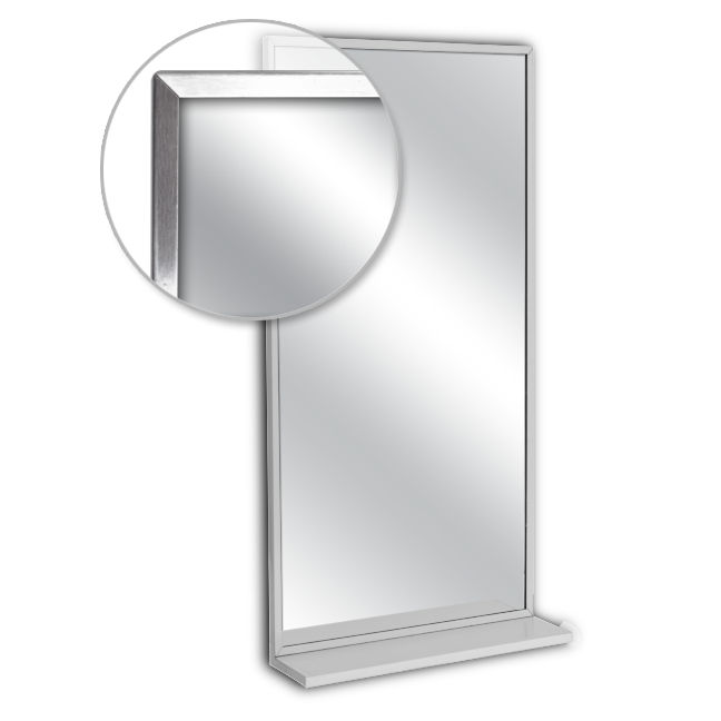 Ajw u716 1824 channel frame mirror with mounted shelf for 18 x 24 window