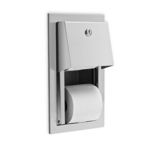 AJW U841 Dual Hooded Toilet Tissue Dispenser with Auto Reserve, Recessed, Non-Controlled