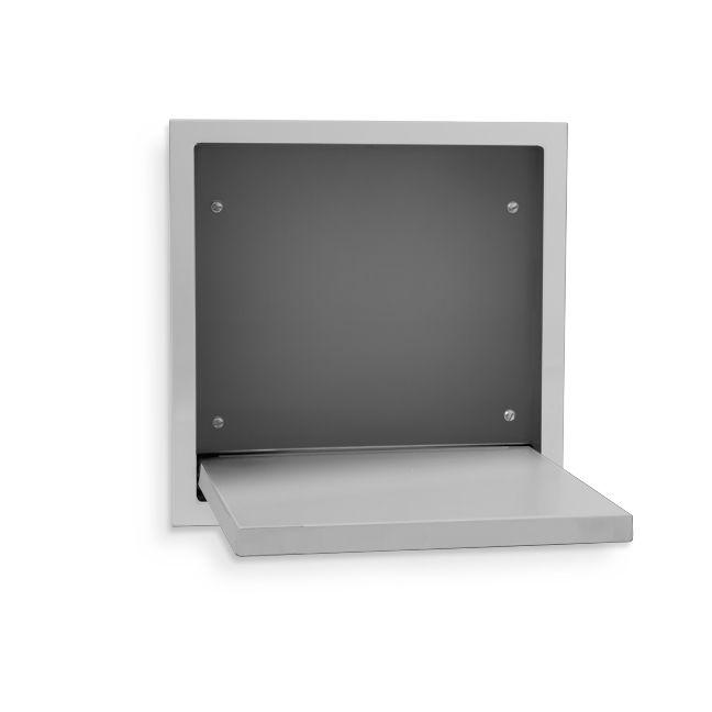 Ajw U931 Fold Down Stainless Steel Shower Seat Recessed