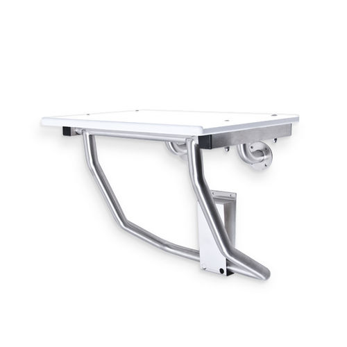 AJW U939 Retractable ADA Compliant Shower Bench, Surface Mounted