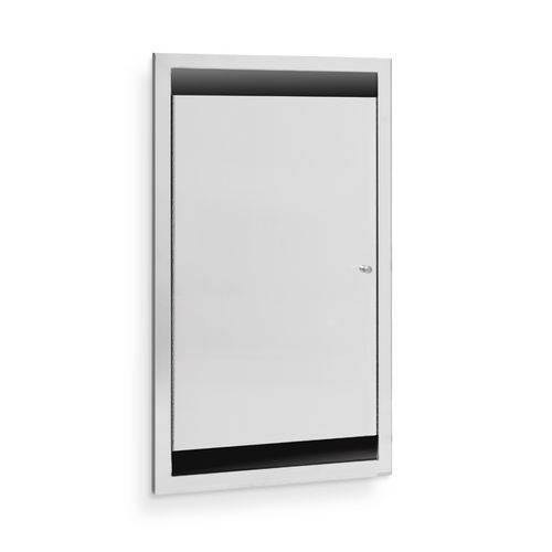 AJW U951-SM Single Bed Pan Cabinet, Surface Mounted
