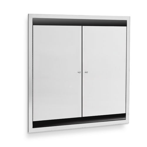 AJW U952-SM Dual Bed Pan Cabinet, Surface Mounted