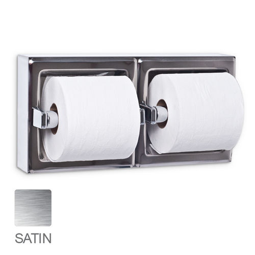 AJW UX75-SF-SM Dual Satin Toilet Tissue Dispenser, Surface Mounted