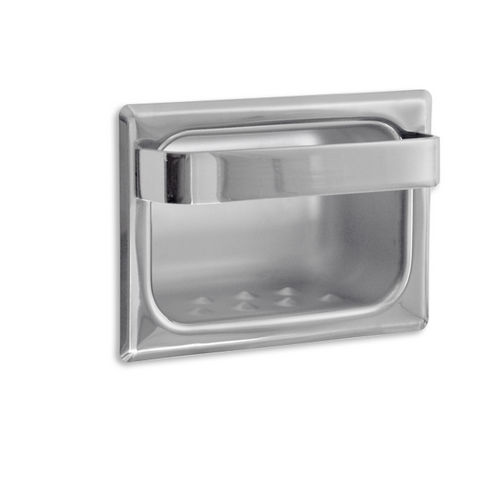 AJW UX81-BF Bright Soap Dish with Wash Cloth Bar, Recessed