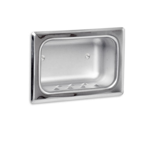 AJW UX82-BF Bright Soap Dish with Mounting Holes, Recessed