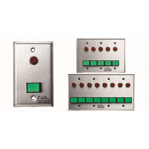 Alarm Controls SLP-4L Monitoring/Control Station  Double Gang Stainless Steel 4Ea Dsw-4 III Gn 12V 4Ea 1/2