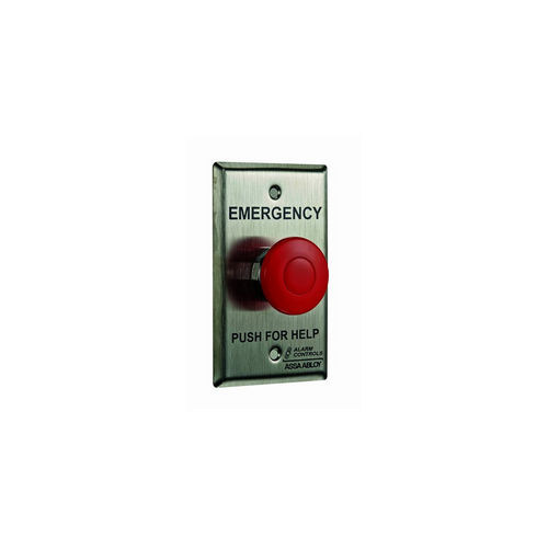 Alarm Controls PBM-1-1-L3-GR Push Button Momentary with 1 N/O & N/C Contact 302 Stainless Steel 24VDC