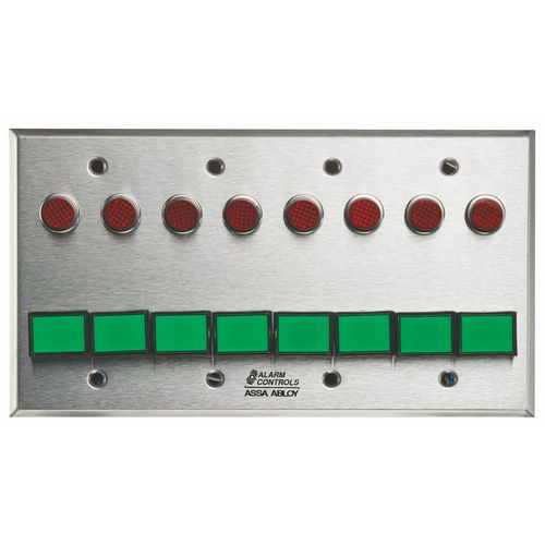 Alarm Controls SLP-8M 4G Monitoring/Control Station  Stainless Steel 8Ea Dsw-3 III Gn 12V 8Ea 1/2