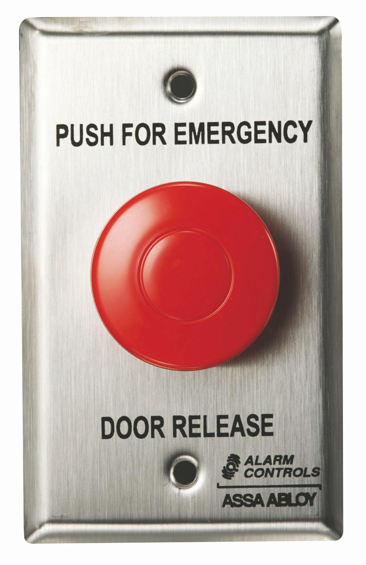 Alarm Controls Ts 32g Emergency Door Rel Ss Single Gang 1