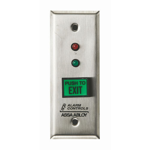 Alarm Controls TS-8L Push Button Request To Exit Green   Latching Red& Green LEDs UL Listed
