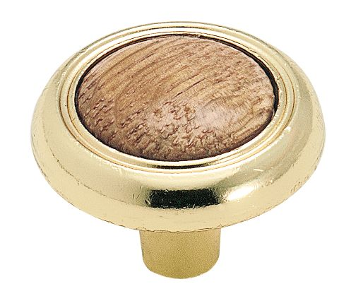 Amerock bp76244o3 round knob oak polished brass for Kitchen cabinets 76244