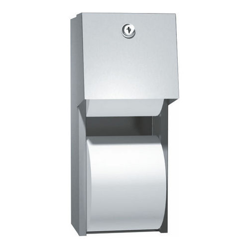 ASI 0030 Toilet Tissue Dispenser, Twin Hide-A-Roll, Surface Mount