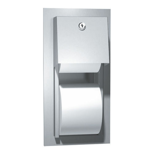 ASI 0031 Toilet Tissue Dispenser, Twin Hide-A-Roll, Recessed