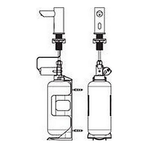 ASI 0391-1AC EZ-Fill, Individual Stand-Alone Liquid Soap Dispenser with I Liter Bottle, AC Plug In Version