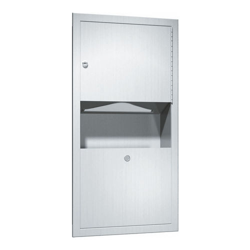 ASI 0462-AD Paper Towel Dispenser & Waste Receptacle, Recessed