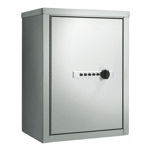 ASI 0547 Narcotics Cabinet, Combination Lock / Dual Doors, Stainless Steel