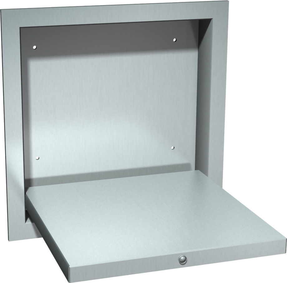 ASI 170 Recessed Shower Seat with Mounting Frame | TheBuildersSupply.com