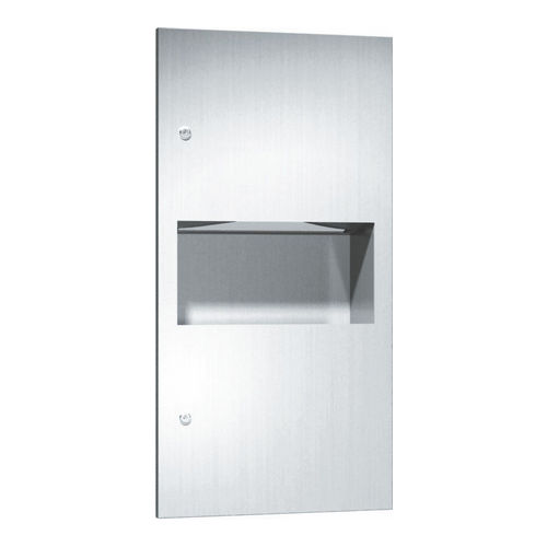ASI 64623 Paper Towel Dispenser & Waste Receptacle, Recessed