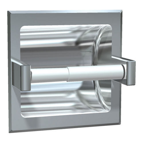 ASI 7402-HB Toilet Tissue Holder with Hood (Single), Recessed, Bright