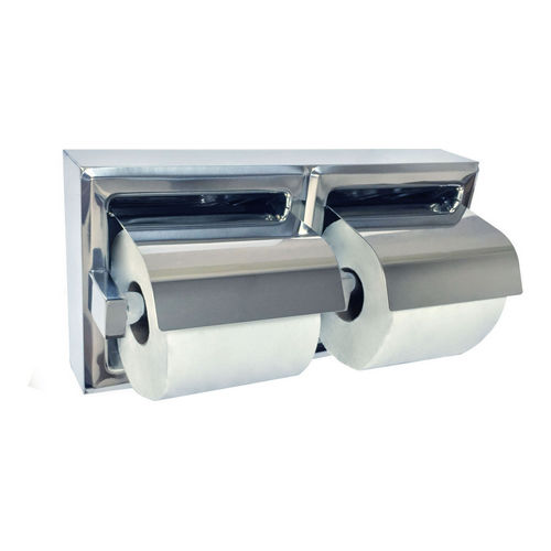 ASI 74022-HBSM Toilet Tissue Holder with Hood (Double), Surface Mounted, Bright