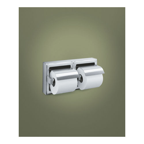 ASI 74022-B Toilet Tissue Holder (Double), Recessed, Bright