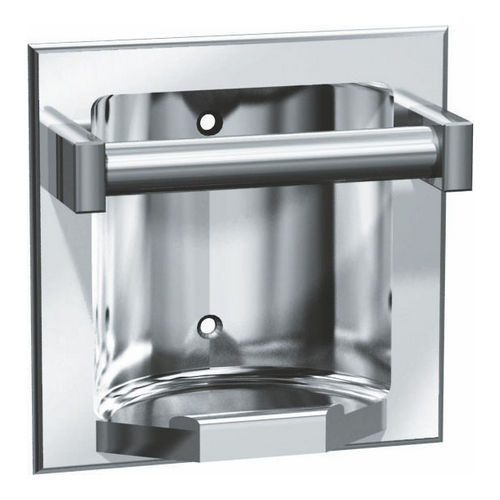ASI 7410-B Soap Dish with Bar, Recessed, Bright