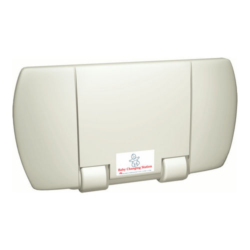 ASI 9012 Baby Changing Station, Horizontal Surface Mounted Plastic