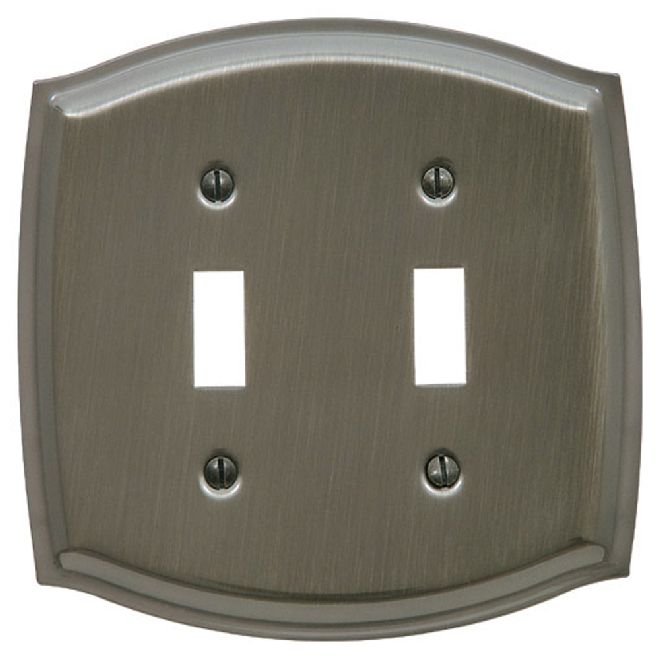 Baldwin 4766 Switch Plate Colonial Double Toggle