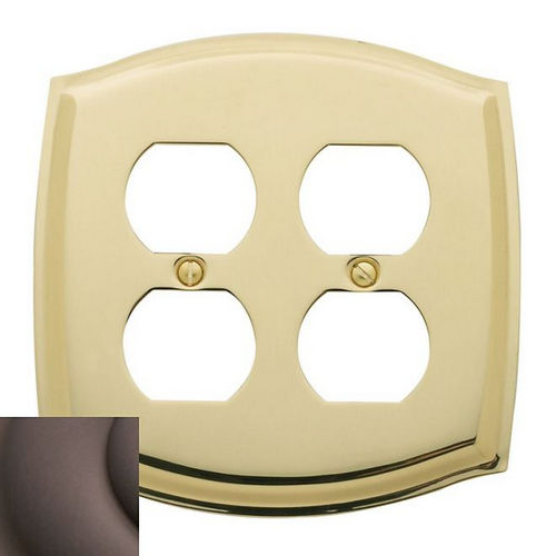 Baldwin 4781112 Double Outlet Colonial Switch Plate, Venetian Bronze