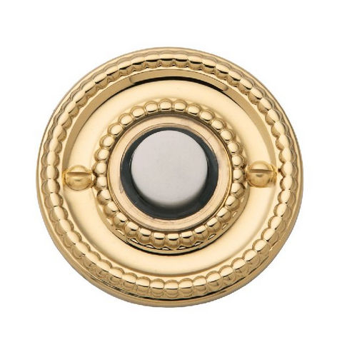 Baldwin 4850030 Bell Button, Polished Brass